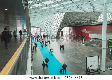 MILAN, ITALY - FEBRUARY 13: People visit Bit, international tourism exchange reference point for the travel industry on FEBRUARY 13, 2015 in Milan.