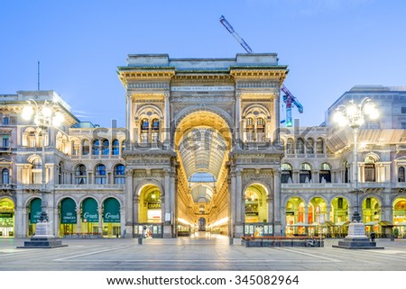 MILAN, ITALY - FEBRUARY 3, 2013: View of Galleria Vittorio Emanuele II on February 3, 2013. This is one of the most popular shopping area in Milan.