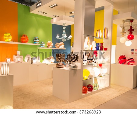 MILAN, ITALY - JANUARY 30: Objects on display at HOMI, home international show and point of reference for all those in the sector of interior design on JANUARY 30, 2016 in Milan.