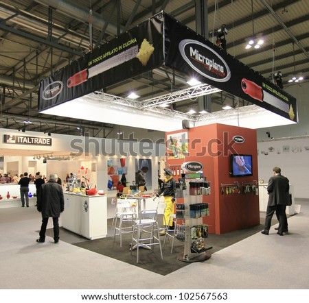 MILAN, ITALY - JANUARY 28: People look for design and interior decoration products at Macef, International Home Show Exhibition January 28, 2011 in Milan, Italy.