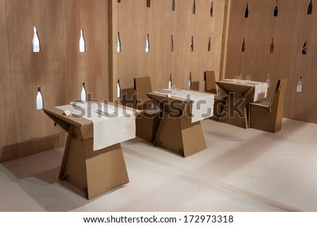 Milan Italy January 20 Restaurant Cardboard Stock Photo 172973318