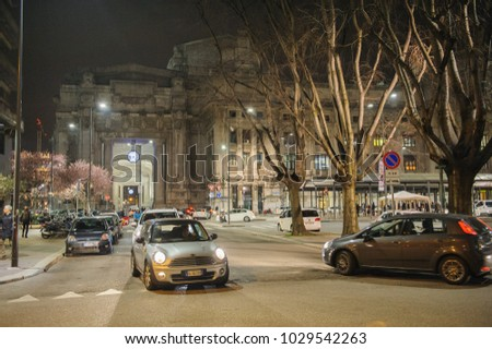 MILAN, ITALY - MARCH 20, 2015: On the streets of the city.
