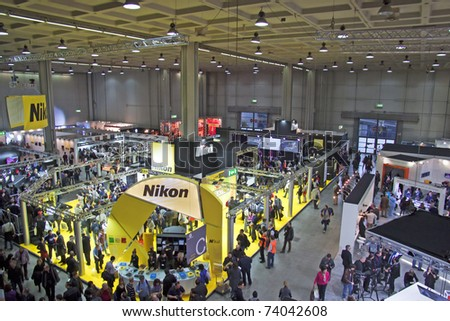 "MILAN, ITALY - MARCH 27: View of international photographic Fair ""Photoshow"" in Milan (25-28 March 2011), March 27, 2011"
