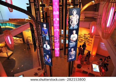 MILAN, ITALY - May 11: Angola pavilion at Expo, universal exposition on the theme of food on  May 11, 2015 in Milan, Italy - stock photo