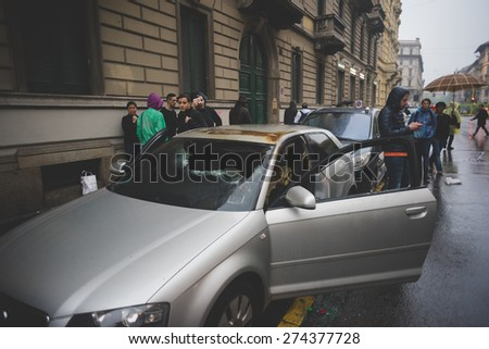 MILAN, ITALY - MAY 1: manifestation held in Milan May 1, 2015. city center destroyed by manifestant black block