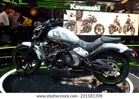 MILAN, ITALY - NOV 8: Kawasaki Vulcan s  at EICMA, 72 th International Motorcycle Exhibition November 8, 2014 in Milan, Italy.