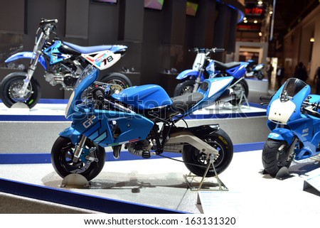 MILAN, ITALY - NOV 5: Polini stand at EICMA, 71 th International Motorcycle Exhibition November 5, 2013 in Milan, Italy.