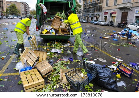 Food waste stock photos images pictures shutterstock for Milan food market