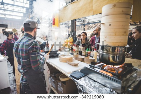 Backview stock photos images pictures shutterstock for Milan food market