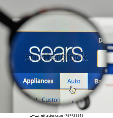 Milan, Italy - November 1, 2017: Sears logo on the website homepage.