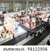 MILAN, ITALY - OCT. 19: Panoramic view of people visiting technologies area during SMAU, international fair of business intelligence and information technology October 19, 2011 in Milan, Italy. - stock photo