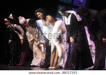MILAN, ITALY - OCTOBER, 27: Loretta Grace during the first release of the show 'SISTER ACT' in Italy on October, 27 2011 in Milan, Italy.