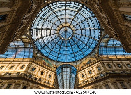 MILAN (ITALY) - OCTOBER 2015 - My visit in Milan, the capital of Lombardy, during the travel at EXPO 2015. - stock photo
