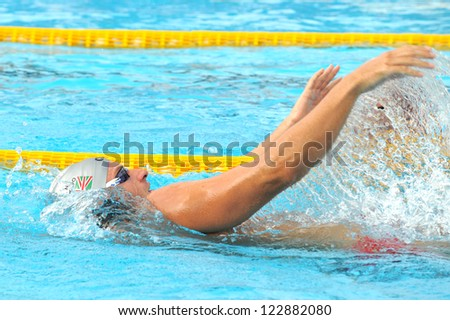 MILAN, ITALY - SEPT 20: Massimiliano Rosolino swimming champion during the performance september 20, 2008 in Milan, ITALY