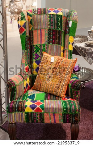 MILAN, ITALY   SEPTEMBER 13: Colorful Armchair On Display At HOMI, Home  International