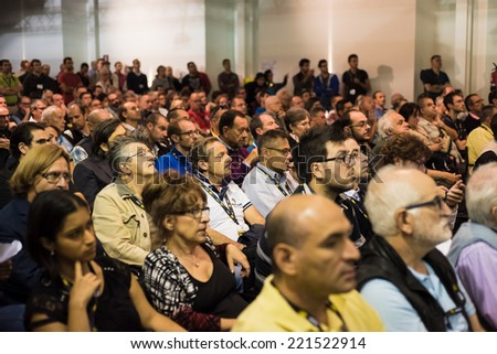 MILAN, ITALY - SEPTEMBER 27: Nikon Live in Milan, Italy on September, 27 2014. Nikon Live is the first Nikon event in Italy where thousand people meet great photographers and known new Nikon products