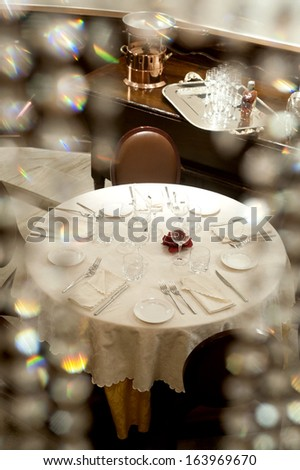MILAN, ITALY - SEPTEMBER 17: tables of the historical Taveggia cafeteria , September 17, 2008 in Milan, Italy.