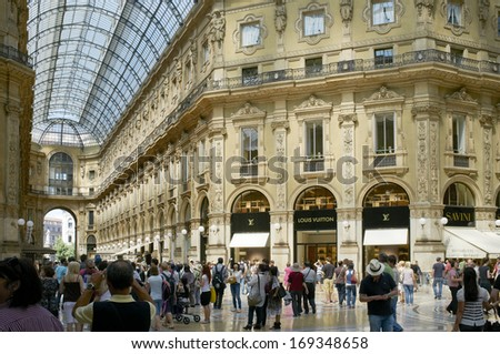 Milan, Lombardy, Italy - May 28: Galleria Vittoria Emanuele II shopping centre. May 28, 2011 in Milan, Lombardy, Italy