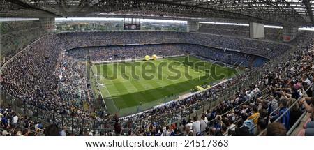 MILAN, MAY 11 : The Italian Championship game of Inter versus Siena was held on May 11, 2008 in Milan, Italy - stock photo