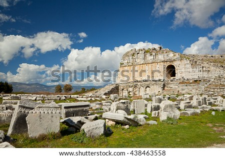 Miletus Theatre, Milas, Turkey - stock photo