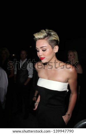 Miley Cyrus at the 2013 Maxim Hot 100 Party, Vanguard, Hollywood, CA 05-15-13 - stock photo