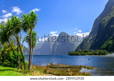 Milford Sound. Fiordland national park, New Zealand - stock photo