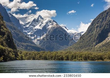 Milford Sound, Fiordland, New Zealand.  - stock photo