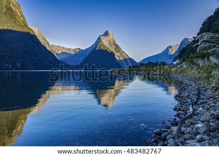 Milford Sound, one of New Zealand's most important tourist attractions and world famous for its natural beauty.