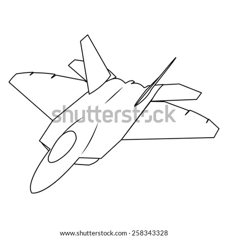 military aircraft fighter - stock photo