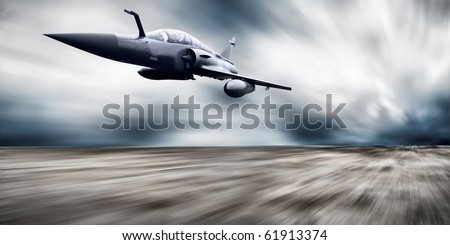 Military airplane speed - stock photo