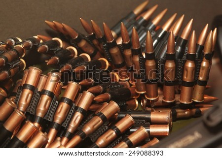 Military ammunition, sign of war today