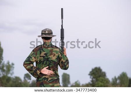 Military and discipline - stock photo
