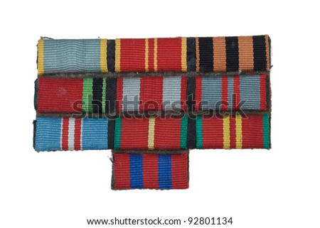 Military awards miniature for military uniform - stock photo