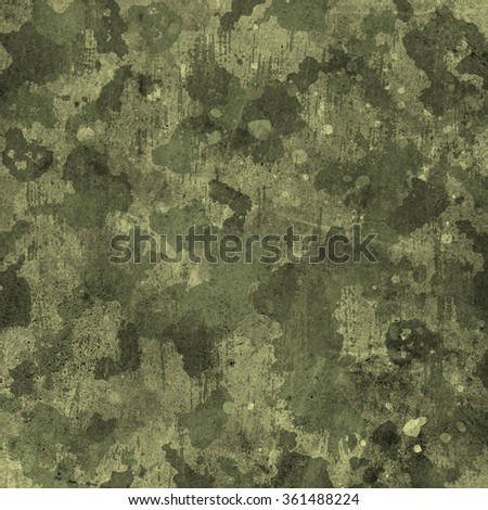 military camouflage pattern in green and brown colors - stock photo