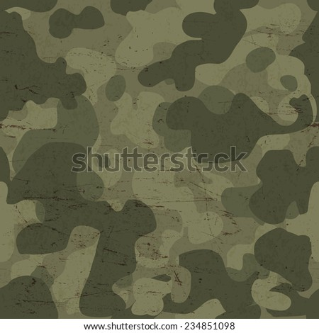 Military camouflage seamless pattern. Raster version  - stock photo