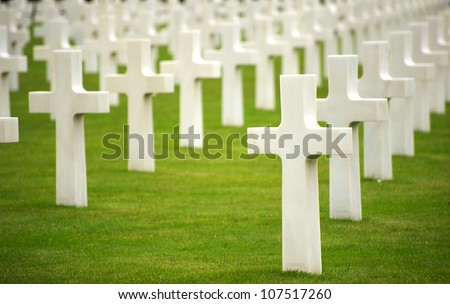 military cemetery - stock photo