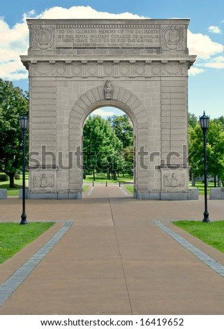 Military College of Canada Memorial in Kingston Ontario - stock photo