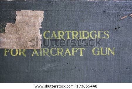 Military combat missiles box texture close-up  - stock photo
