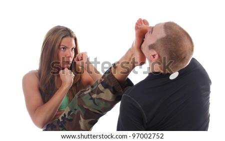 Military Combat Training - stock photo