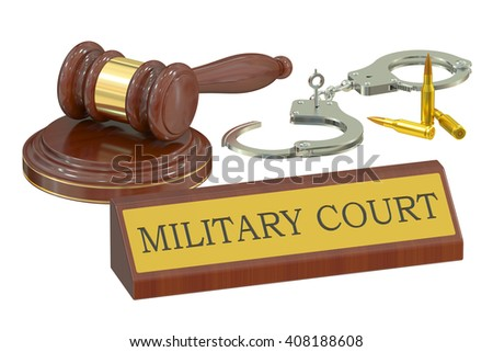 military court concept, 3D rendering - stock photo