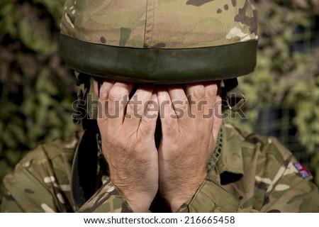 Military Depression - stock photo