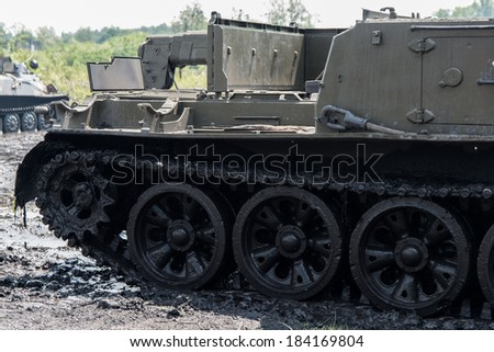 Military engineering vehicle detail