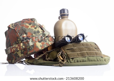 Military equipment - stock photo