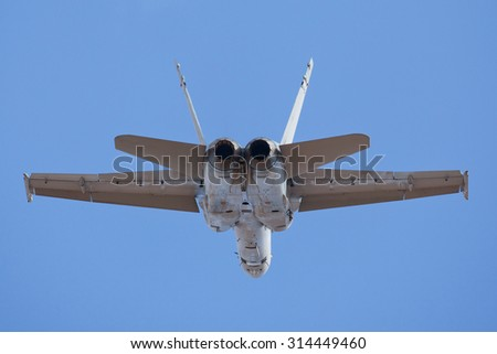 Military fighter jet flying - stock photo