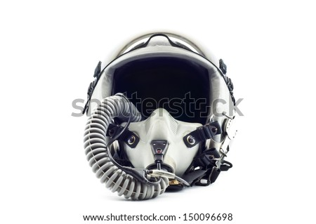 Military flight helmet isolated. - stock photo