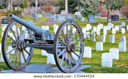Military Graveyard - stock photo