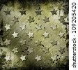 Military Grunge With Stars - stock vector