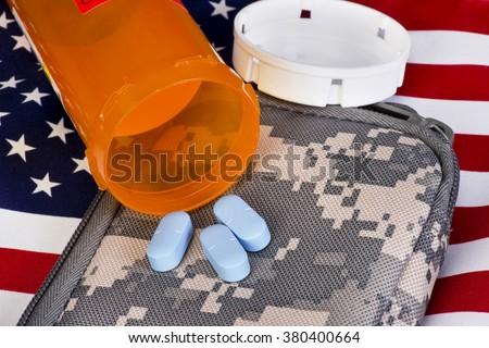 Military health care and medicine. - stock photo