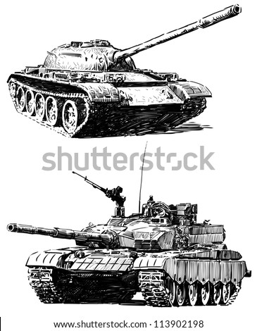 military machines - stock photo