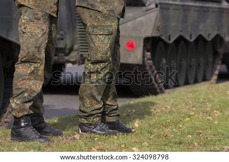 Military men - stock photo